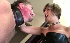 Mature Femdom Loves Slapping Her Slave