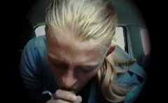 cum in mouth within the vehicle