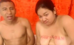 Chubby girl with saggy tits gets nailed by her boyfriend on