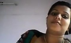 Lusty Indian broad wants to tease by taking out her juicy b