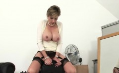 Unfaithful uk mature lady sonia pops out her massive melons