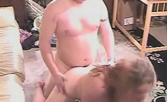 Chubby blonde housewife Cassie can't get enough hardcore sex action