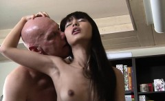 cute asian student old teacher fuck and cum swallow