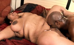 Curvaceous ebony girl wildly fucks a big black dick every way she can