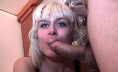 Blonde chick with perfect big tits gets fucked