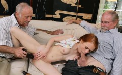 20 year old redhead turned on my old dicks