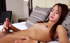 Asian Ts hottie Bell with small tits enjoys in hot solo play