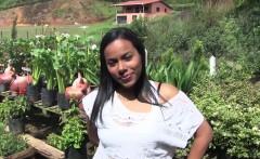 Carne Del Mercado - Hot Latina takes huge cock