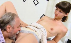 Ideal college girl was seduced and banged by her aged instru
