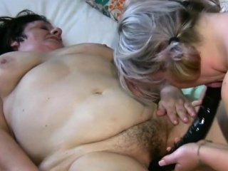 Granny loves feeling natural young tits