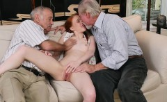 Naughty redhead Dolly bangs with two grannies