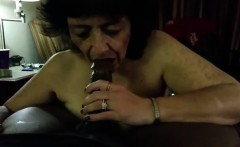 Penis - a BBC being blown by crazy Granny