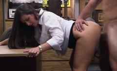 Busty lady sucks a Huge hard dick