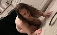 Wet slut crawling in her dirty hot piss