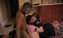 MILF cops stripped black guy and got fucked by him