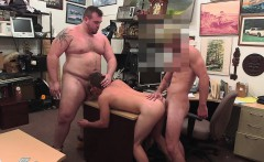 Fit blonde dude gets his tight ass rammed by a big dick