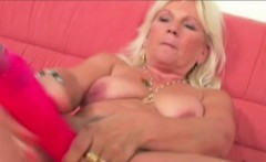 Blonde Mature Mollie Is Rubbed