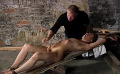 Twink gay boy bondage British twink Chad Chambers is his rec