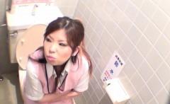 Asian hos peeing close up