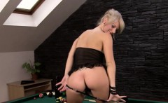 Sexy Blonde Babe Spreads Her Pussy