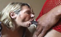 Grandma Sandra fucked by 2 blacks cocks