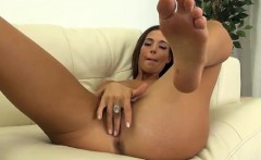 val dodds uses a vibrator to play with her shaved pussy