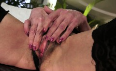 Hairy cougar doggystyled after oral action