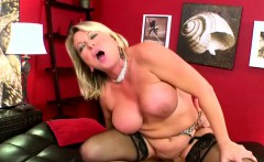 Mature Fat Blonde In Black Stockings