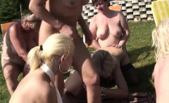 outdoors lesbian group session with lusty sluts