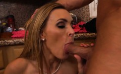 sexy blonde milf black lingerie kitchen fuck tanya tate