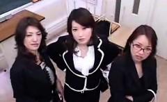 Three attractive Oriental ladies share their intense desire