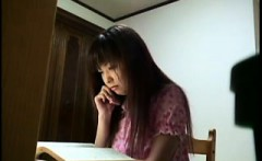 Horny Japanese lady with a lovely ass fingers her peach and