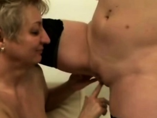 Busty old lesbians licking and fingering cunts