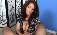 huge titted amateur cougar wanking cock pov