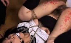 bodacious japanese nympho in lingerie gets tied up and dril
