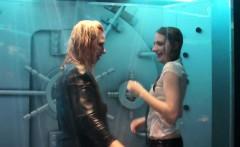 wetlook girls dancing in the shower room 7