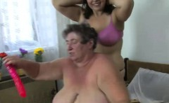 alisa and tarra celebrate with granny sex