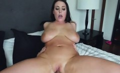 chesty babe angela white gets her pussy beaten up
