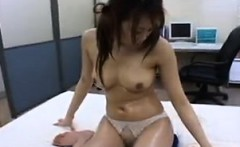 Pretty Asian girl with perky boobs has a masseur fulfilling