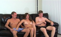Hot babe and dude gets smashed by skinny twinks big dick