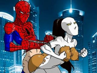 Spiderman hentai sex parody