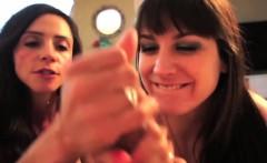 Ariella Ferrera and Addie Juniper Tag Team Blow Job