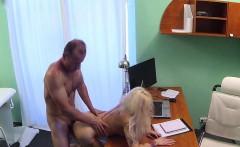 Slutty blonde banged in hospital