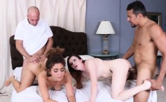 Mom and naughty friend's daughter dad surprise The Dual cron