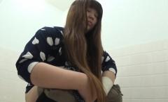Asian teens upskirt pee