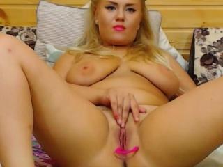 Naughty Blonde Left Alone Very Wet