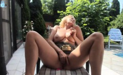 Sweet Big Tits Model Masturbates For Web Viewers