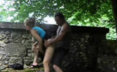 Amateur blonde teen giving her guy head at party and at home