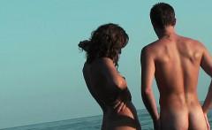 Sexy chick spy at beach nice ass nudist shots