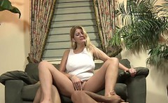 sexy angel takes off high heels and gets her feet licked